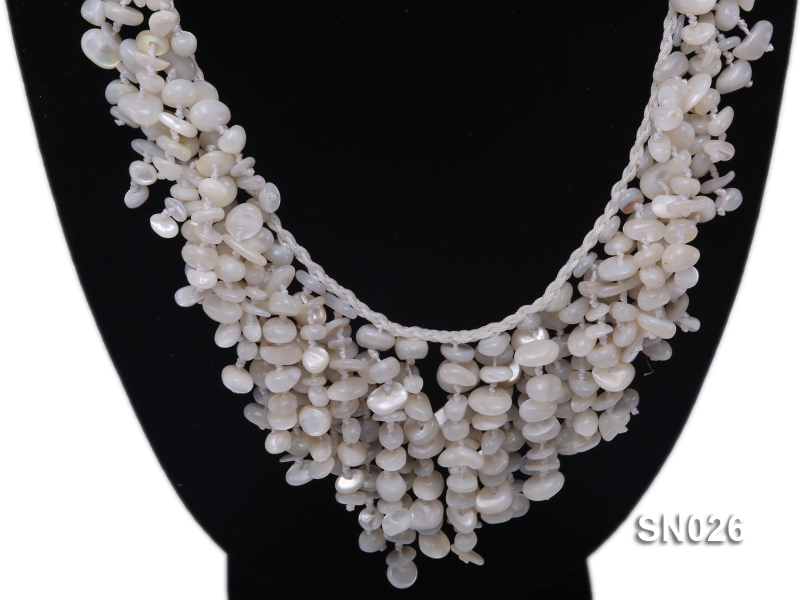 5-8mm White Shell Necklace big Image 2