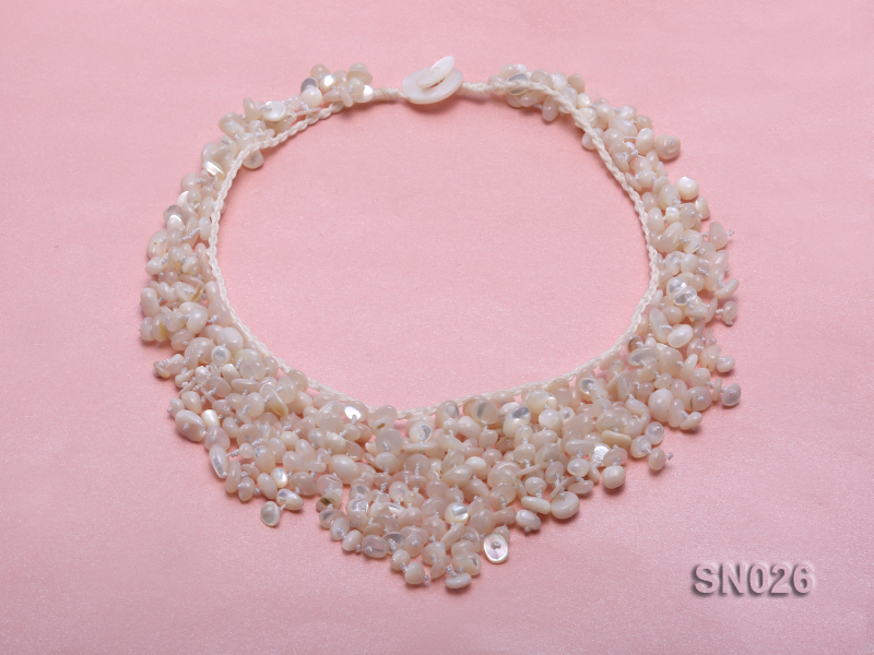 5-8mm White Shell Necklace big Image 3