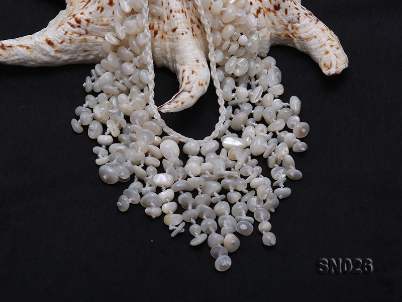 5-8mm White Shell Necklace big Image 5