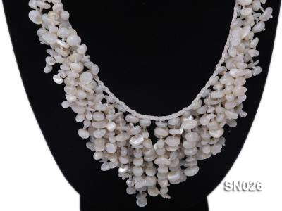 5-8mm White Shell Necklace SN026 Image 2