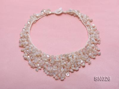 5-8mm White Shell Necklace SN026 Image 3