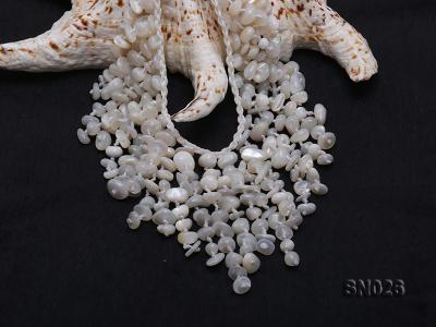 5-8mm White Shell Necklace SN026 Image 5