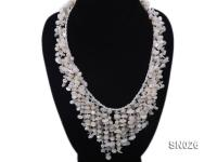5-8mm White Shell Necklace SN026