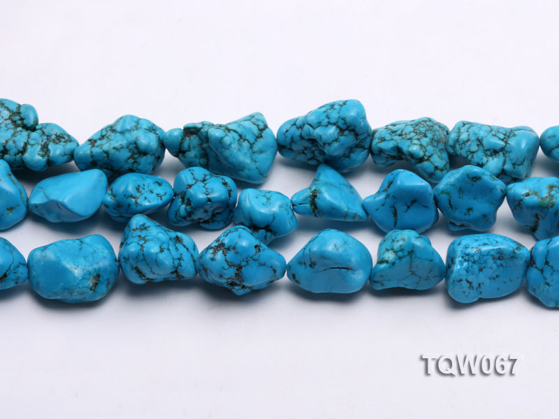 Wholesale 20x25mm Irregular Blue Turquoise Pieces String big Image 2