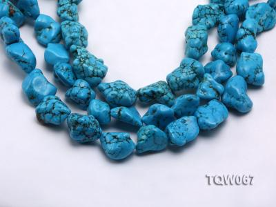 Wholesale 20x25mm Irregular Blue Turquoise Pieces String TQW067 Image 1