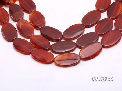 wholesale 20x35mm red oval agate strings GAG044 Image 1