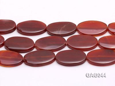 wholesale 20x35mm red oval agate strings GAG044 Image 2
