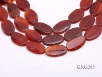 wholesale 20x35mm red oval agate strings GAG044
