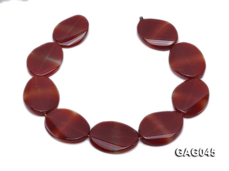 wholesale 30x40mm red oval agate strings big Image 4
