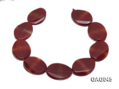 wholesale 30x40mm red oval agate strings GAG045 Image 4