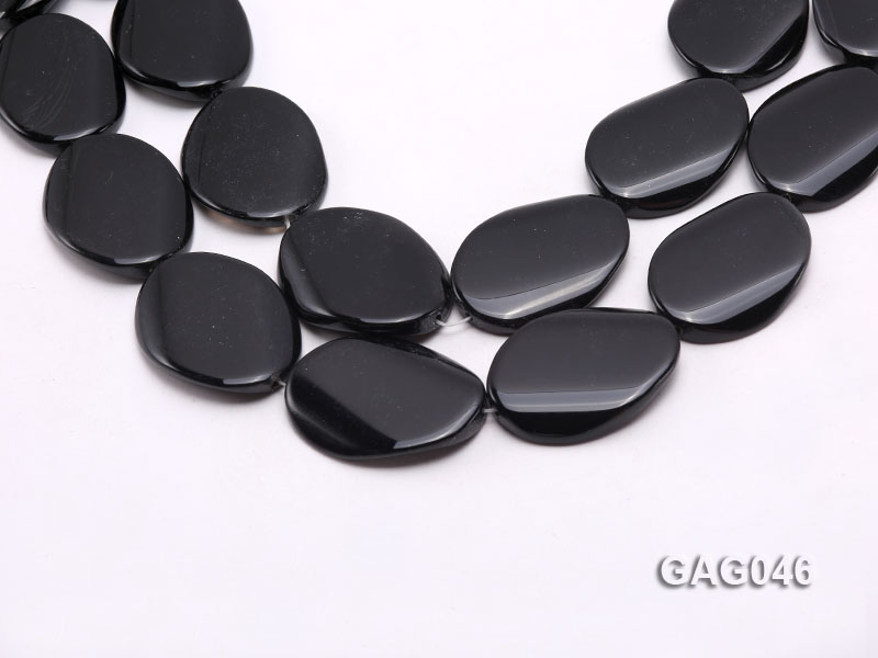 wholesale 30x40mm black oval agate strings big Image 1