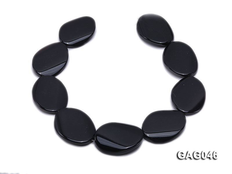 wholesale 30x40mm black oval agate strings big Image 4