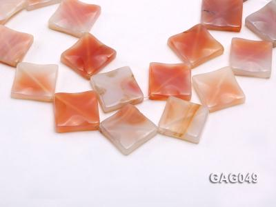 wholesale 30x30mm red flat square agate strings GAG049 Image 1