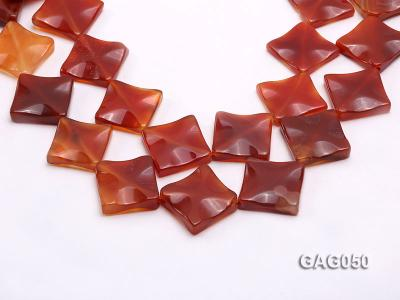 wholesale 25mm red flat square agate strings GAG050 Image 1