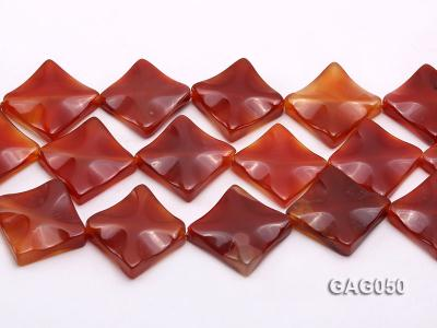 wholesale 25mm red flat square agate strings GAG050 Image 2