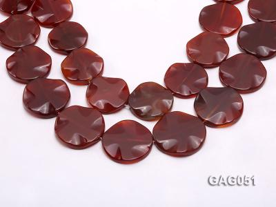 wholesale 35mm red round agate piece strings GAG051 Image 1