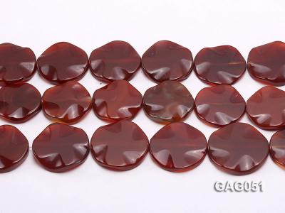 wholesale 35mm red round agate piece strings GAG051 Image 2