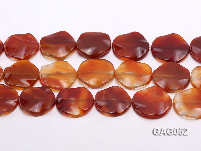 wholesale 35mm red flat round agate strings big Image 2