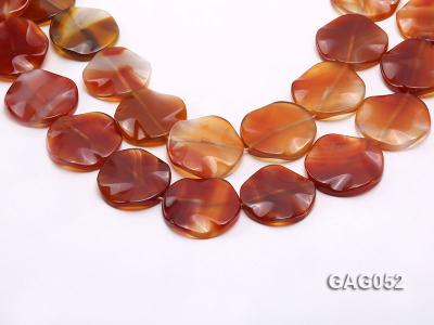 wholesale 35mm red flat round agate strings GAG052 Image 1
