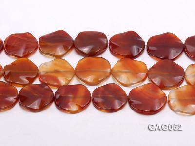 wholesale 35mm red flat round agate strings GAG052 Image 2