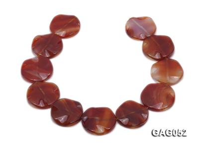 wholesale 35mm red flat round agate strings GAG052 Image 4