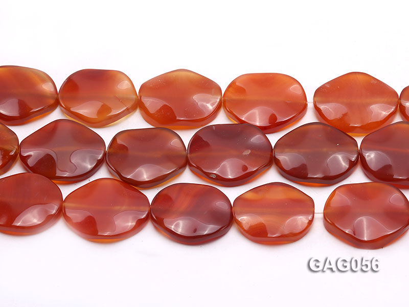 wholesale 25x30mm red oval agate piece strings big Image 2