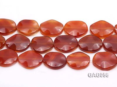 wholesale 25x30mm red oval agate piece strings GAG056 Image 2