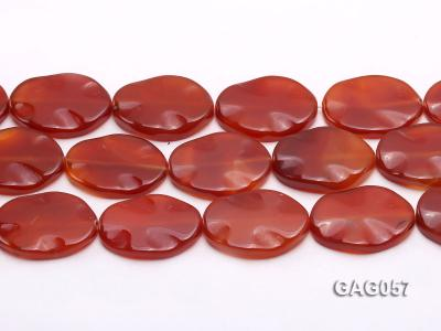 wholesale 30x40mm oval red agate pieces strings GAG057 Image 2