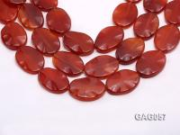 wholesale 30x40mm oval red agate pieces strings GAG057