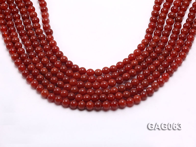 wholesale 6mm round red agate strings big Image 1