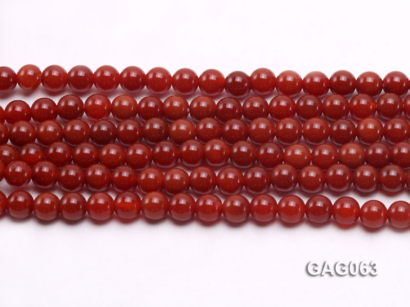 wholesale 6mm round red agate strings big Image 2