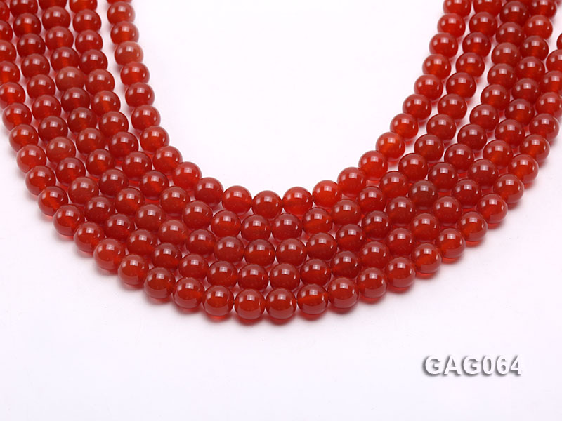 wholesale 8mm round red agate strings big Image 1