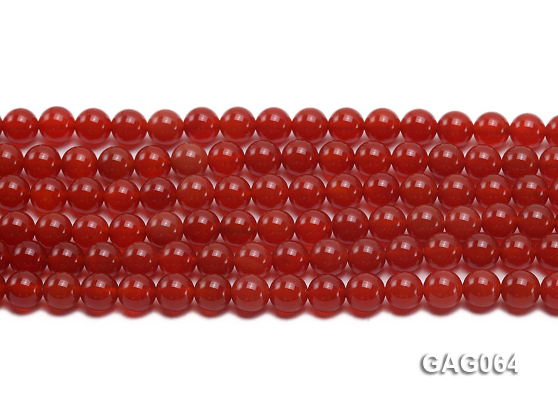 wholesale 8mm round red agate strings big Image 2