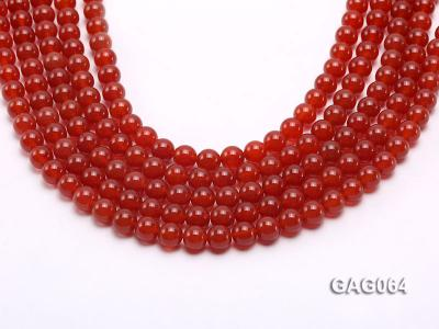 wholesale 8mm round red agate strings GAG064 Image 1