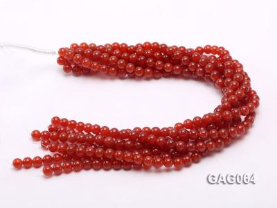 wholesale 8mm round red agate strings GAG064 Image 3