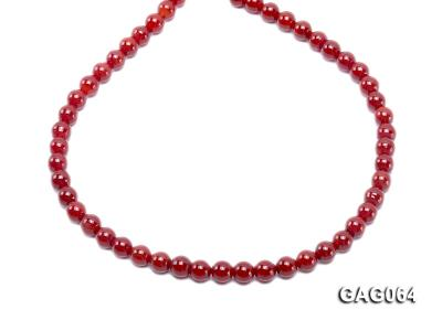 wholesale 8mm round red agate strings GAG064 Image 4