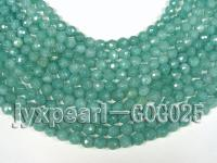 wholesale 8mm green faceted jade-like stone strings GOG025