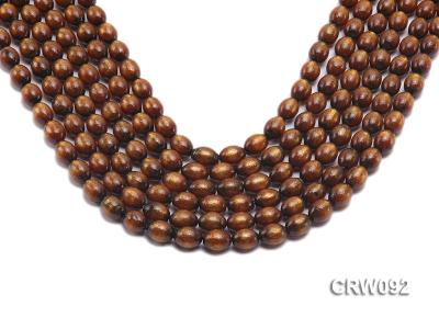 Wholesale 9x12mm Oval Golden Coral Beads Loose String CRW092 Image 1