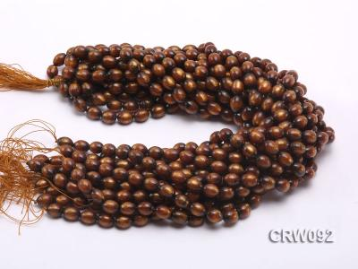 Wholesale 9x12mm Oval Golden Coral Beads Loose String CRW092 Image 2