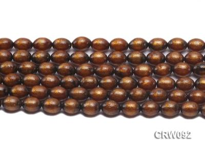 Wholesale 9x12mm Oval Golden Coral Beads Loose String CRW092 Image 3