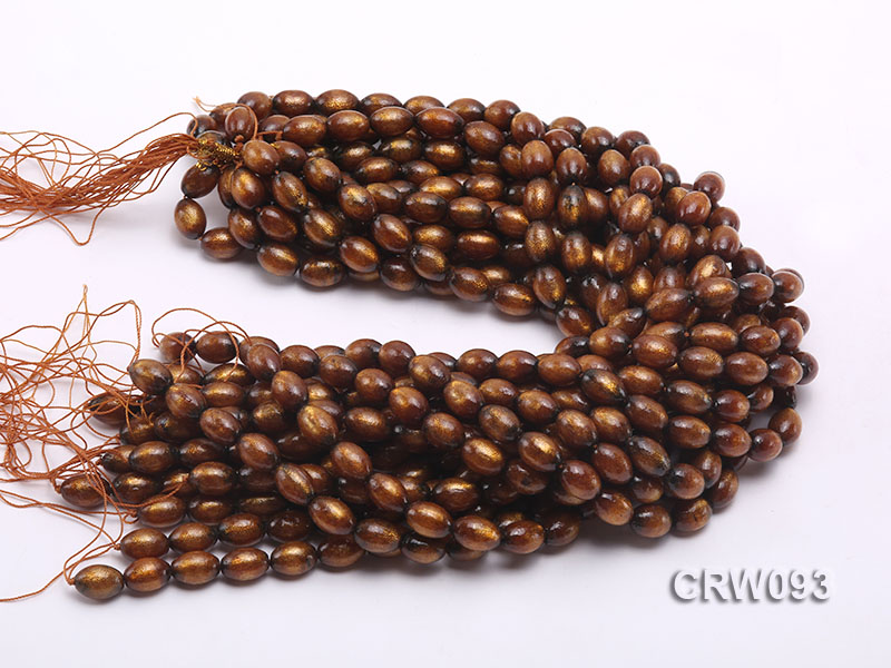Wholesale 10x14mm Oval Golden Coral Beads Loose String big Image 3