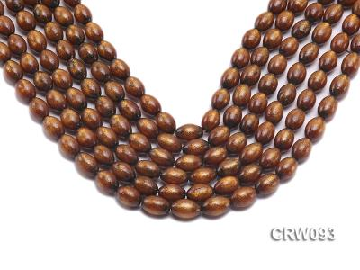 Wholesale 10x14mm Oval Golden Coral Beads Loose String CRW093 Image 1