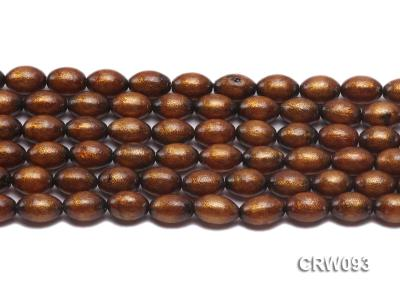 Wholesale 10x14mm Oval Golden Coral Beads Loose String CRW093 Image 2