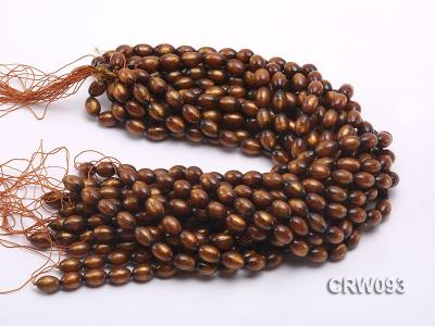 Wholesale 10x14mm Oval Golden Coral Beads Loose String CRW093 Image 3
