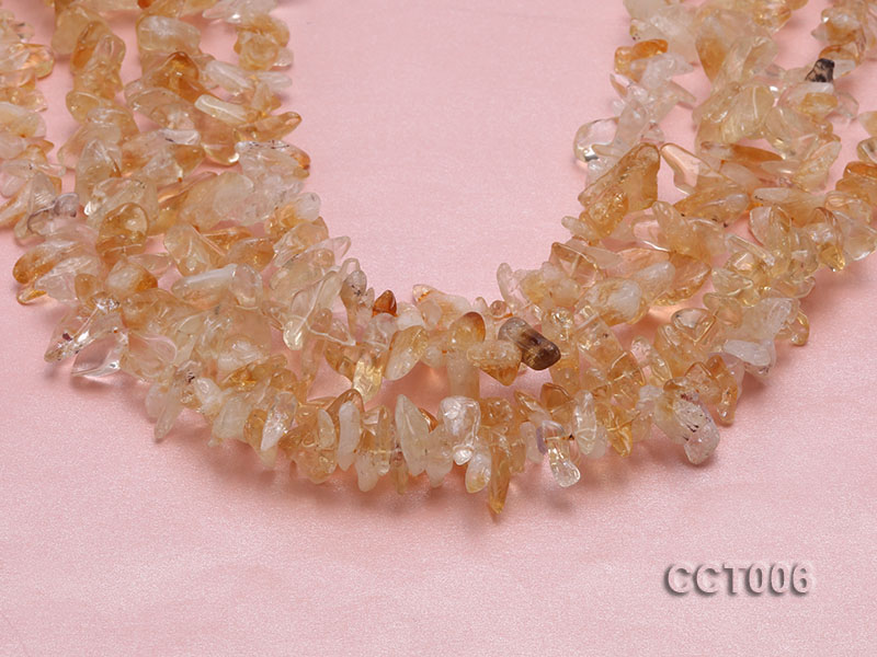 Wholesale 6x12mm Irregular Translucent Citrine Chips String big Image 3