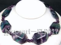 30x40mm colorful irregular fluorite and moss round agate necklace FLR017
