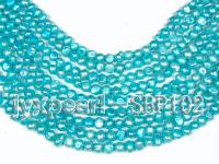 Wholesale 8-9mm Blue Flat Cultured Freshwater Pearl String SBP102