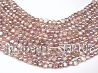 Wholesale 8-9mm Lavender Flat Cultured Freshwater Pearl String SBP107