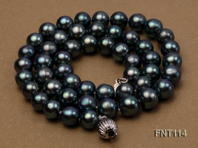 8-8.5mm Black Freshwater Pearl Necklace, Bracelet and Earrings Set FNT114 Image 3