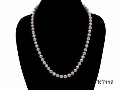 6.5-7mm White Freshwater Pearl Necklace, Bracelet and Stud Earrings Set FNT119 Image 4